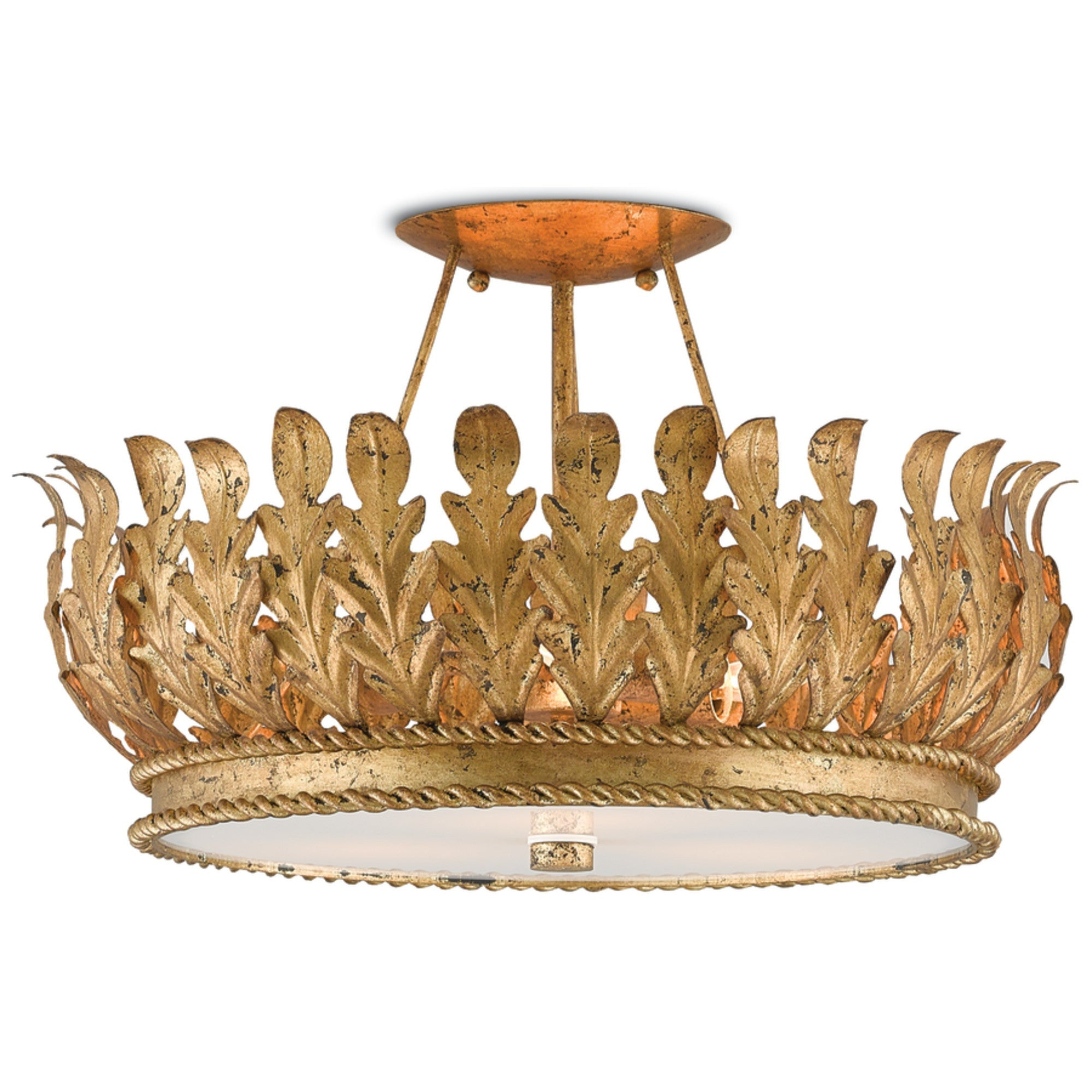Currey And Company Phone Number: Biddulph Semi-Flush Mount Design By Currey & Company