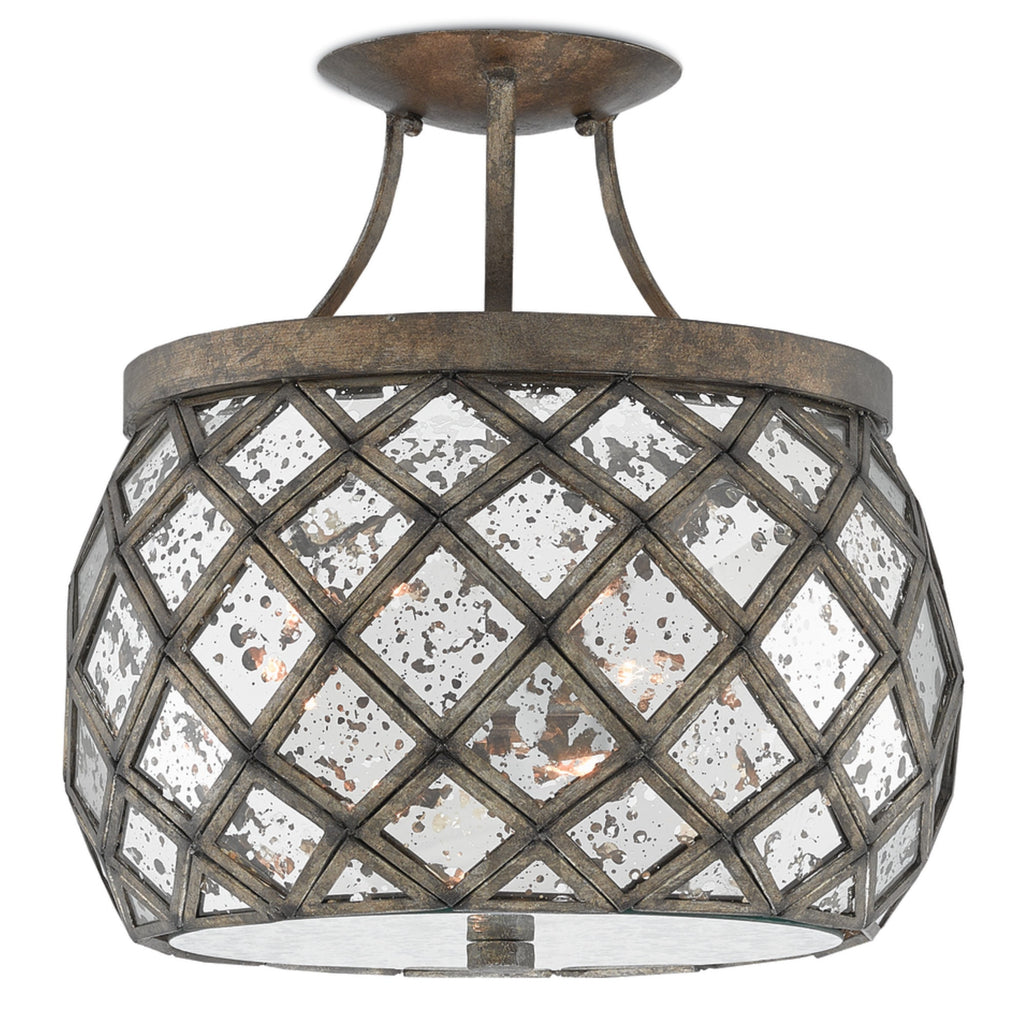 Buckminster Semi-Flush Mount design by Currey & Company