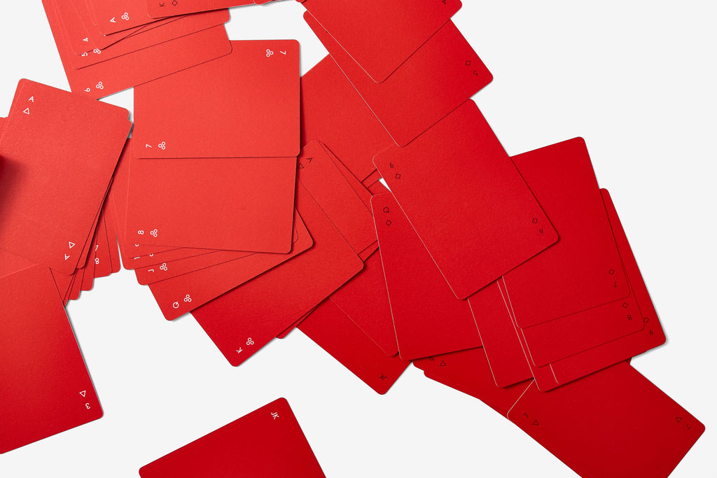 Minim Playing Cards in Red (Shipping Late March 2021)