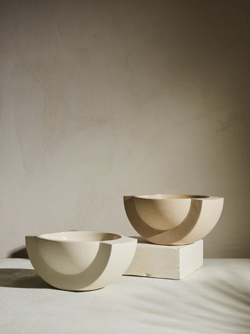 SATURN Ceramic Bowl in Sand design by Light and Ladder