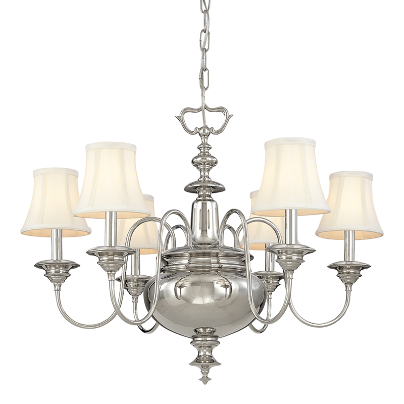 Yorktown 6 Light Chandelier by Hudson Valley Lighting