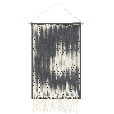 Amare AAE-1000 Woven Wall Hanging in Medium Gray & Cream by Surya