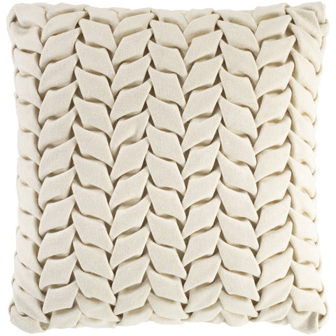 Alana AAP-001 Felted Square Pillow in Cream by Surya
