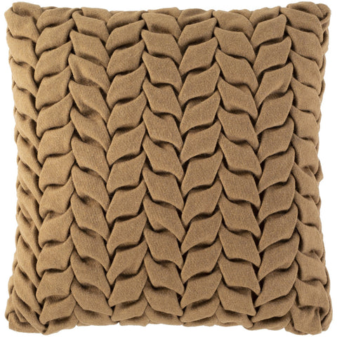 Alana AAP-004 Felted Square Pillow in Camel by Surya