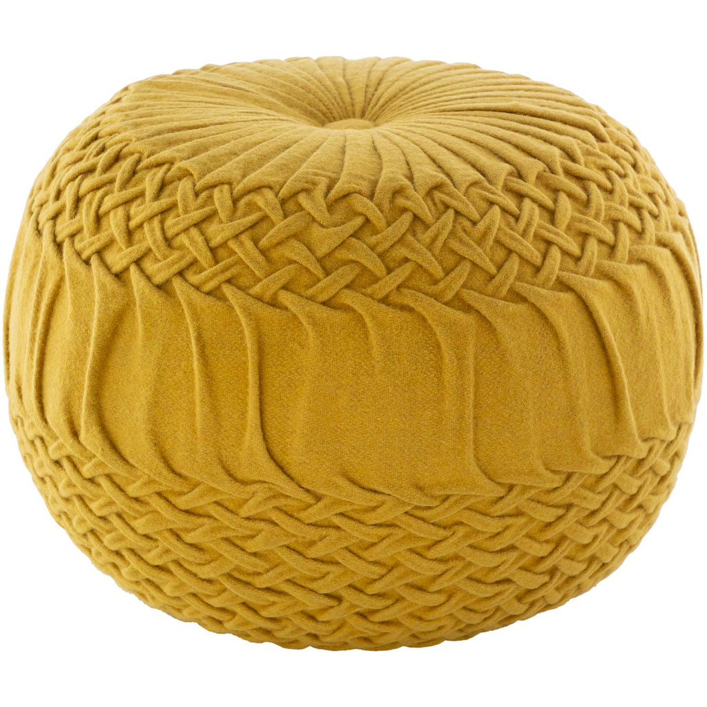 Alana AAPF-005 Pouf in Mustard by Surya