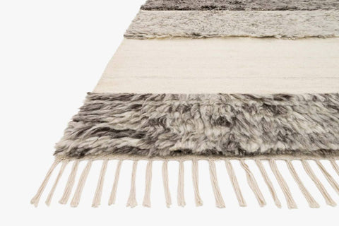 Abbot Rug in Natural & Stone design by Ellen DeGeneres for Loloi