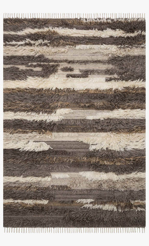 Abbot Rug in Natural & Multi design by Ellen DeGeneres for Loloi