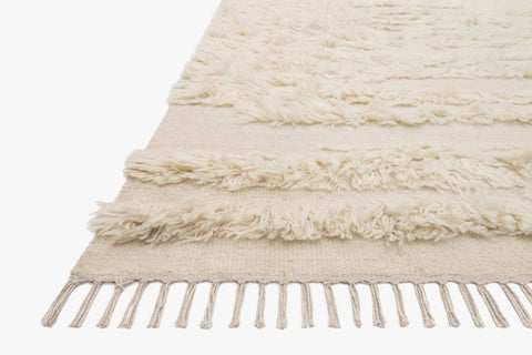 Abbot Rug in Natural & Ivory design by Ellen DeGeneres for Loloi