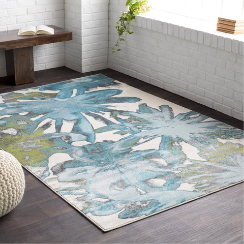 Aberdine ABE-8003 Rug in Aqua & Tea by Surya