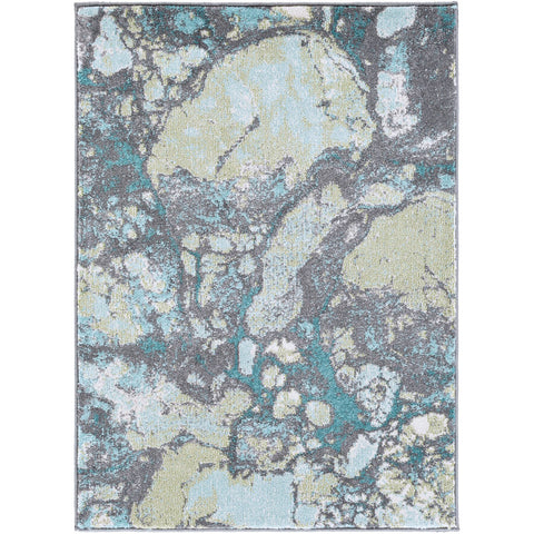 Aberdine ABE-8014 Rug in Aqua & Medium Gray by Surya