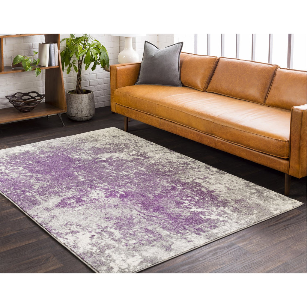 Aberdine ABE-8026 Rug in Gray & Dark Purple by Surya