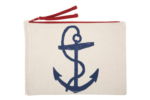 Anchor Sketch Canvas Pouch design by Thomas Paul