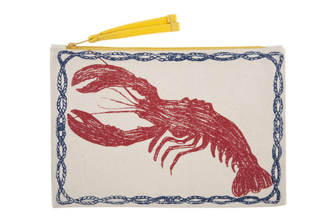 Lobster Sketch Canvas Pouch design by Thomas Paul