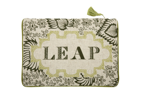 Leap Embroidered Pouch design by Thomas Paul