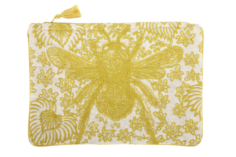 Buzz Embroidered Pouch design by Thomas Paul