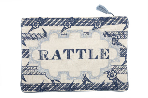 Rattle Embroidered Pouch design by Thomas Paul