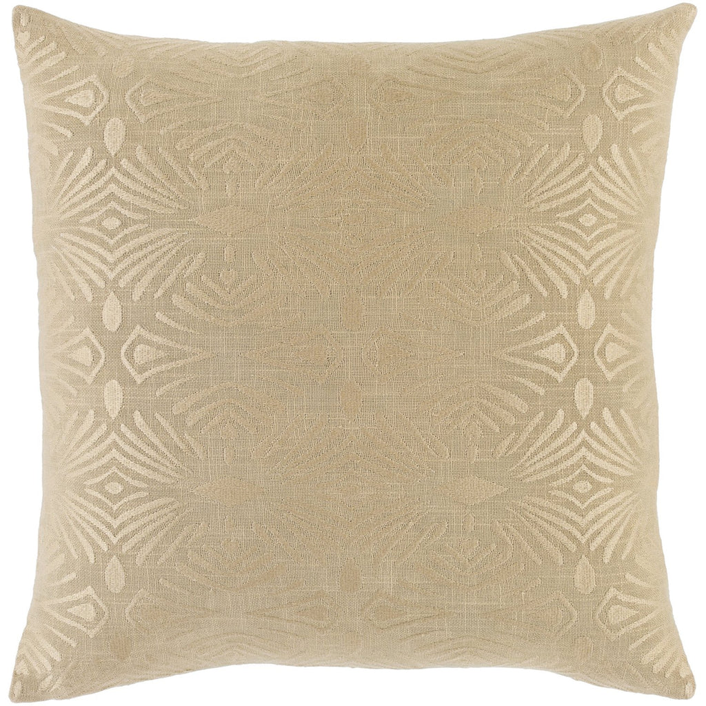 Accra ACA-001 Woven Square Pillow in Khaki & Wheat by Surya