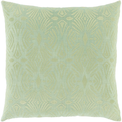 Accra ACA-003 Woven Square Pillow in Mint & Moss by Surya