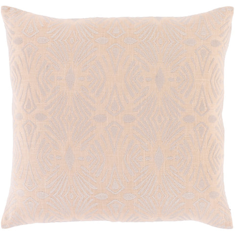 Accra ACA-005 Woven Square Pillow in Peach & Lilac by Surya