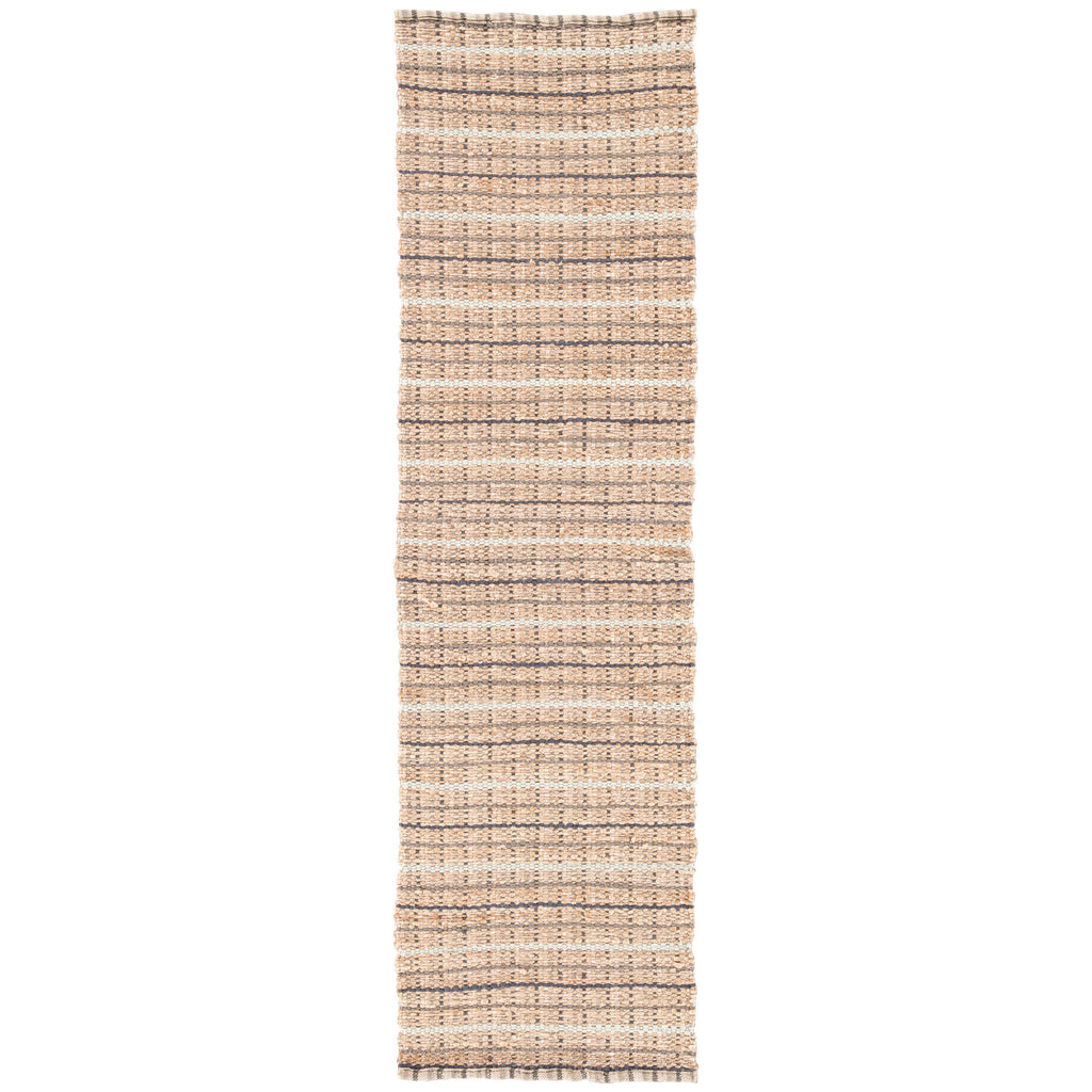 Harringdon Natural Stripe Gray & Beige Area Rug