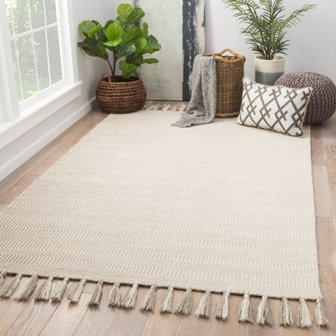 Flats Geometric Rug in Goat & Turtledove design by Jaipur Living