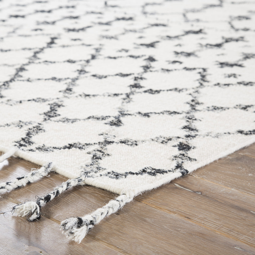 Riot Geometric Rug in Turtledove & Jet Black design by Jaipur Living