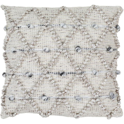 Anders ADR-001 Hand Woven Square Pillow in Cream by Surya