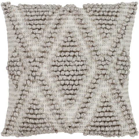 Anders ADR-004 Hand Woven Square Pillow in Cream & Khaki by Surya