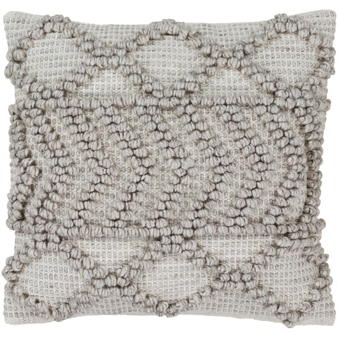 Anders ADR-007 Hand Woven Square Pillow in Cream & Khaki by Surya