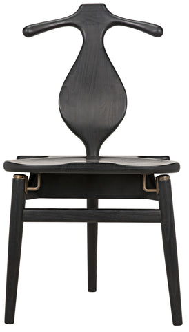 Figaro Chair w/ Jewelry Box in Charcoal Black by Noir