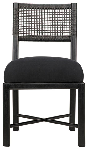 Lobos Chair in Charcoal Black by Noir