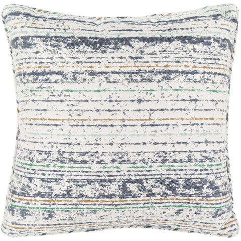 Arie AE-003 Woven Pillow in Ivory & Navy by Surya