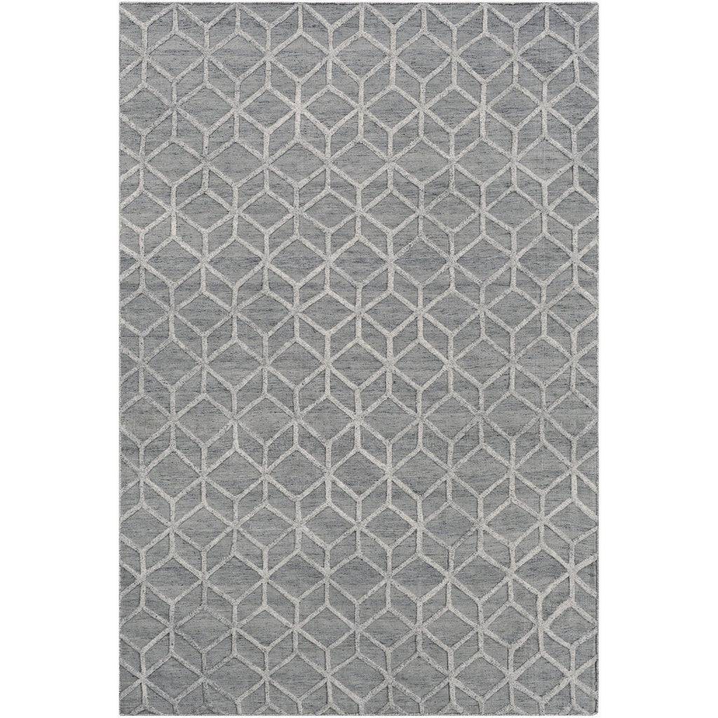 Arete AET-1004 Hand Knotted Rug in Ivory & Medium Gray by Surya