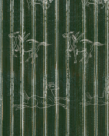 A Fable Wallpaper in Evergreen from the Complementary Collection by Mind the Gap