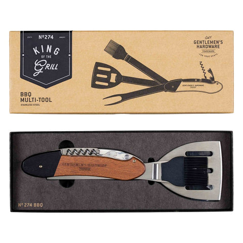 BBQ Multi-Tool, Wood & Stainless Steel