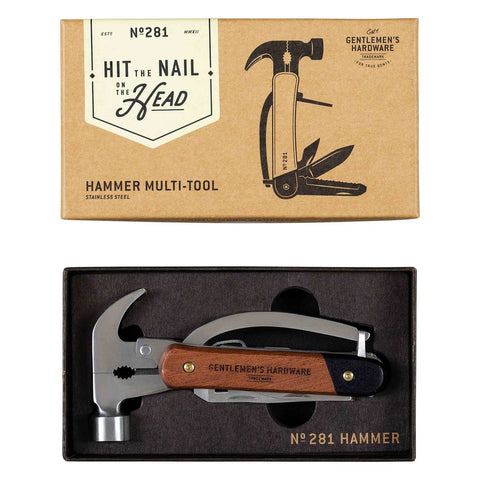 Hammer Multi-Tool, Wood & Stainless Steel