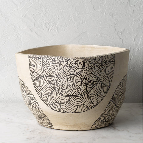 Argil AGI-003 Short Planter in Ivory by Surya