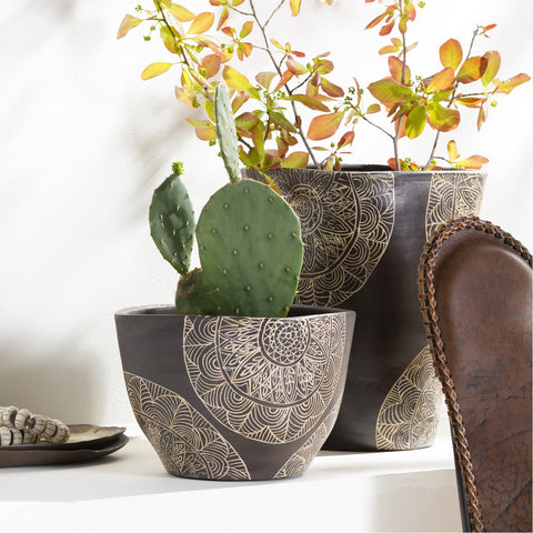 Argil AGI-006 Short Planter in Brown by Surya