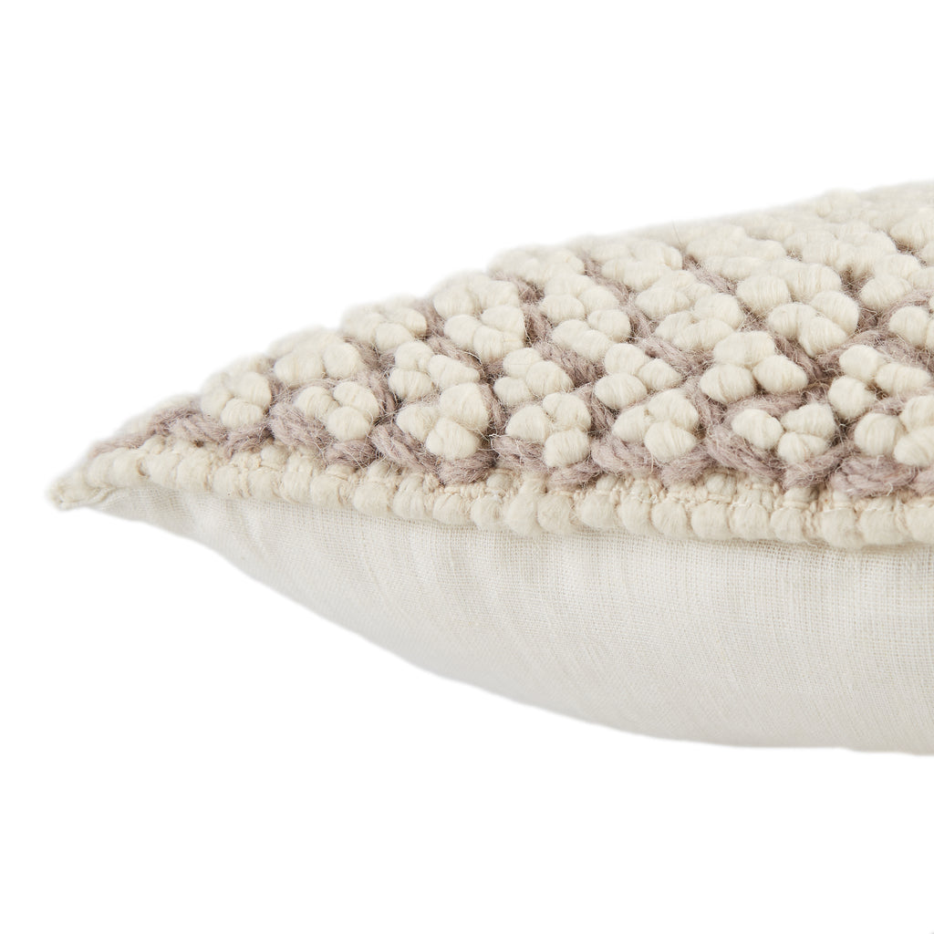 Madur Textured Pillow in Light Taupe by Jaipur Living