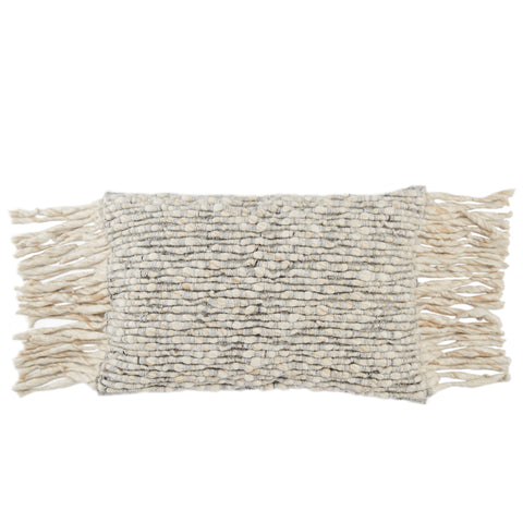 Cilo Textured Pillow in Cream & Light Gray by Jaipur Living