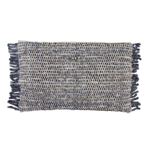 Honaz Textured Pillow in Navy & Ivory by Jaipur Living