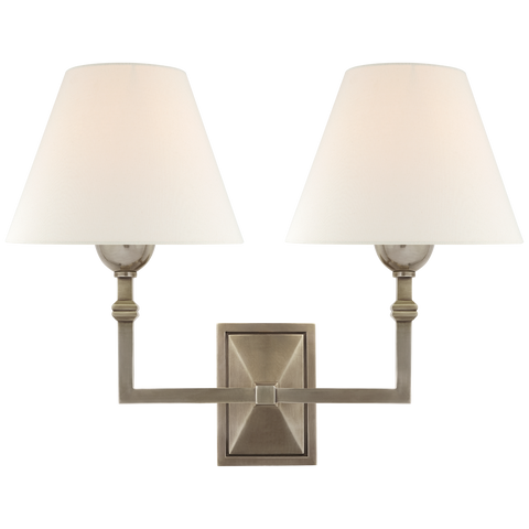 Jane Double Sconce by Alexa Hampton