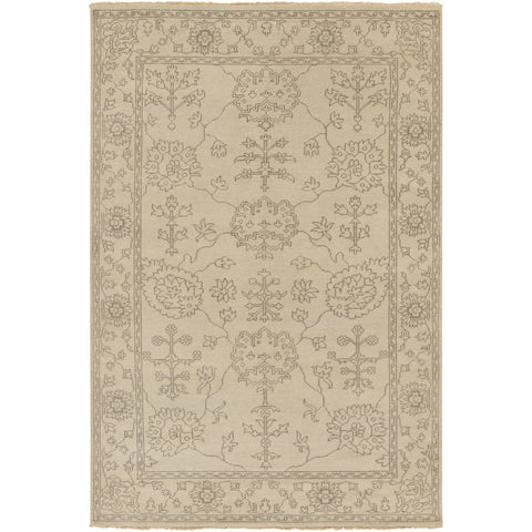 Ainsley AIN-1018 Hand Knotted Rug in Khaki & Charcoal by Surya
