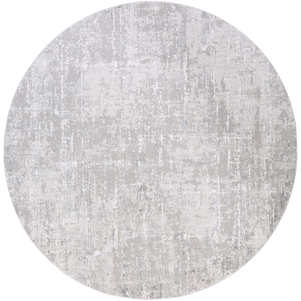 Aisha AIS-2305 Rug in Gray & White in Various Sizes