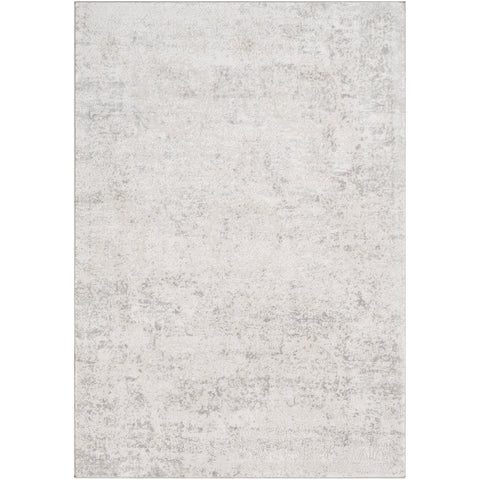 Aisha Rug in Light Gray & White