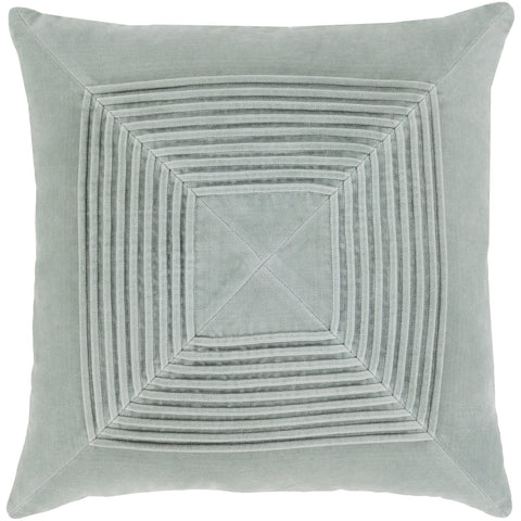 Akira AKA-001 Velvet Pillow in Ice Blue by Surya