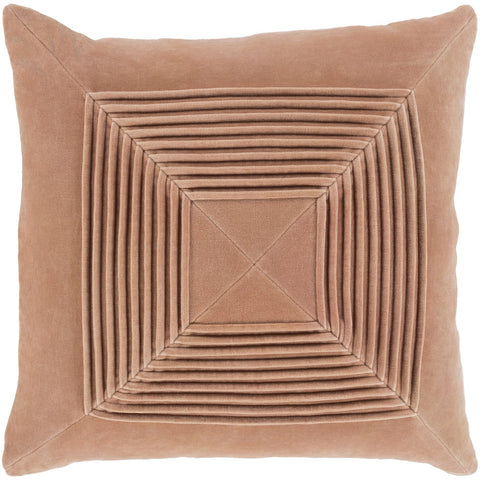 Akira AKA-005 Velvet Pillow in Peach by Surya