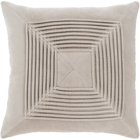 Akira AKA-006 Velvet Pillow in Beige by Surya