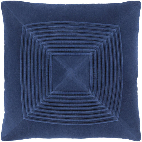 Akira AKA-008 Velvet Pillow in Navy by Surya