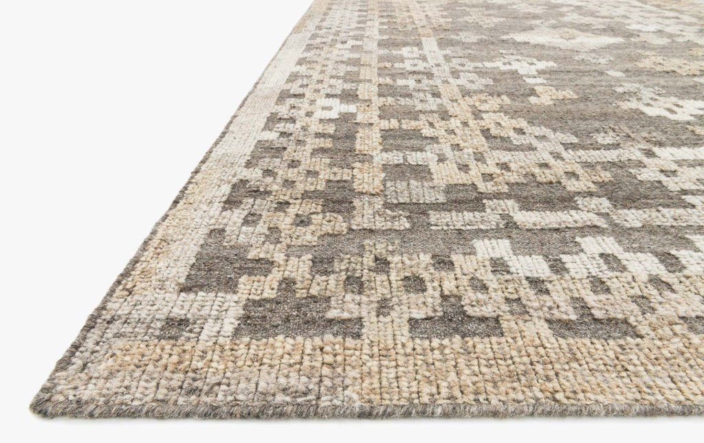 Akina Rug in Charcoal & Taupe design by Loloi